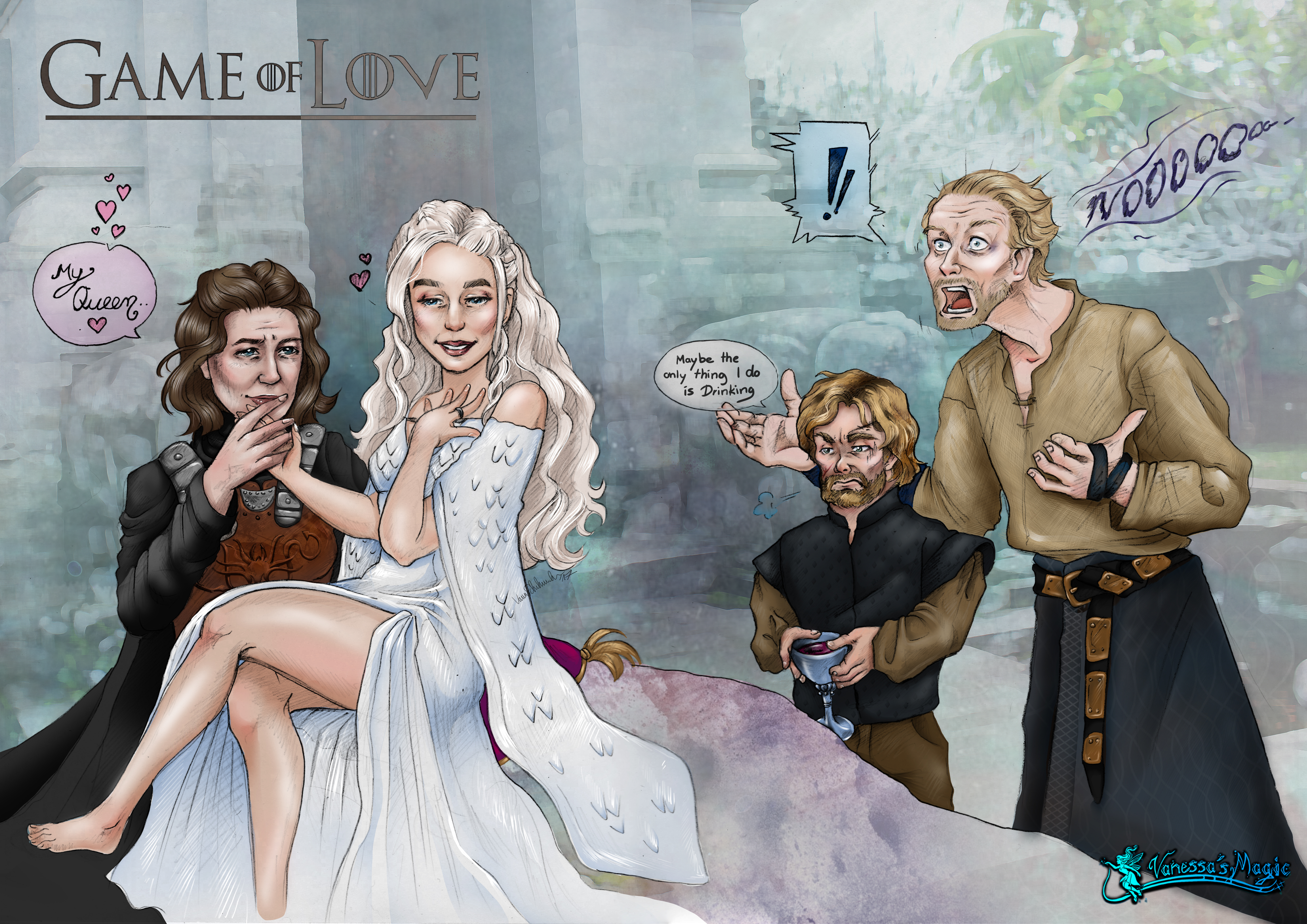 Game of Thrones Parodie mit Daenerys, Asha, Tyrion und Jorah